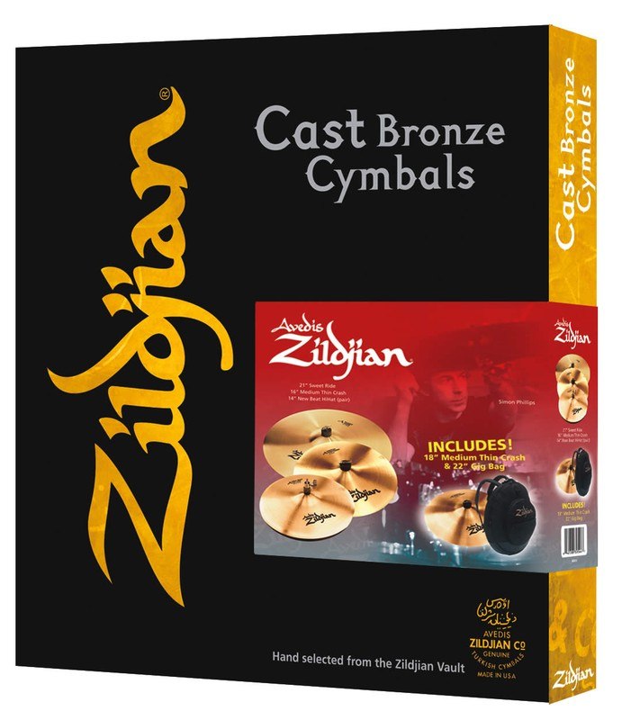 A Zildjian 4 Pack Matched Promo Box Set