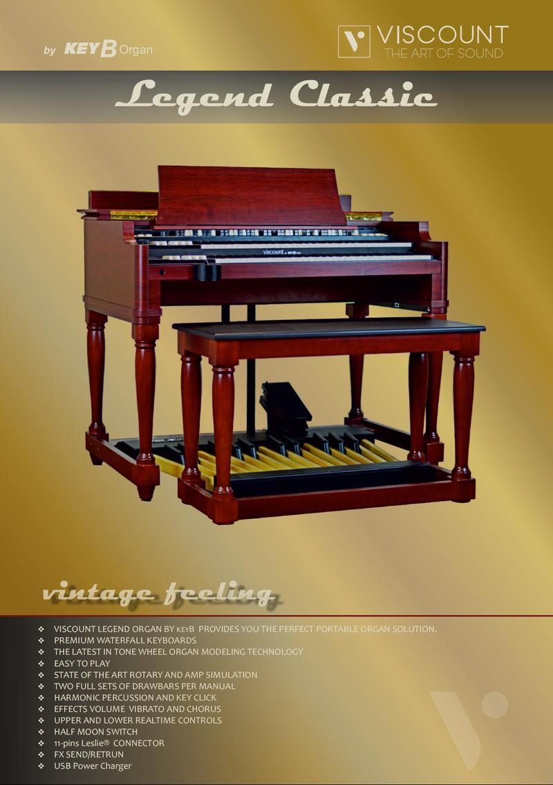New viscount legend classic organ hammond organ world for Classic house organ sound