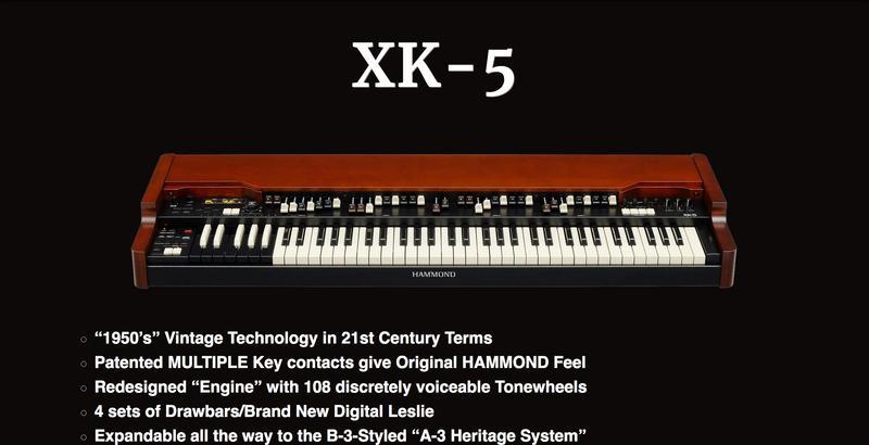 New Hammond XK 5 Organ Systems Hammond Organ World