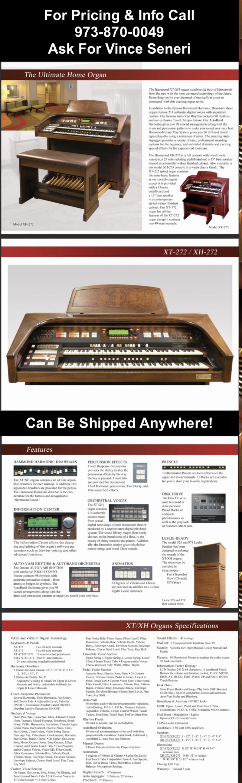 Hammond XH 272 Organ-Available! - Hammond Organ World