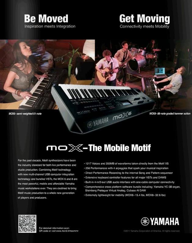 Yamaha Synthesizers/Workstations - MOX8 - Hammond Organ World