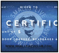 Smalls Jazz Club Gift Certificate