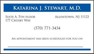 Two Color Appointment Card Style AC13
