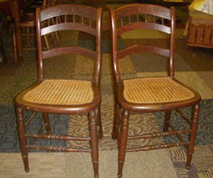 Superbe 4 Cane Chairs