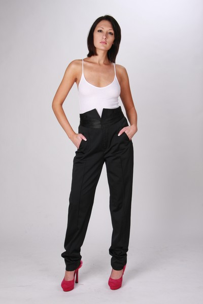 Armani Exchange high waist tuxedo pants