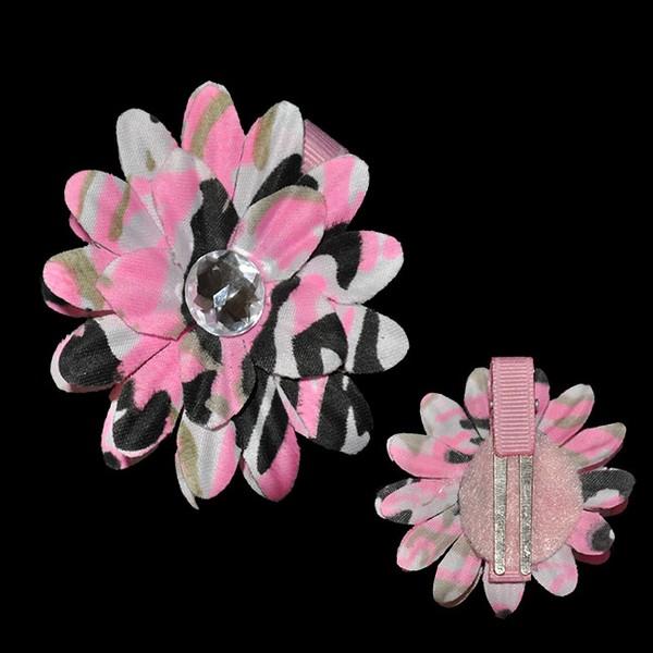 Mini Daisy Blossom Clip-Camouflage