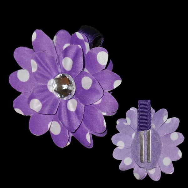Mini Daisy Blossom Clip-Polka Dot