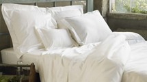 CLASSIC COYUCHI  ORGANIC COTTON 300C SATEEN NEUTRAL PALETTE PILLOWCASES White, Ivory Colors