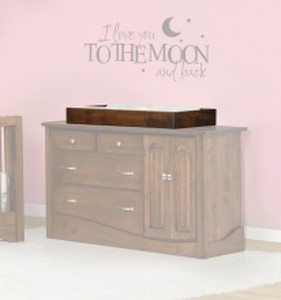 JR KIDS COMFORT DRESSER, CHEST CONVERTER ONLY