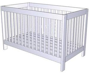 KIDS COMFORT CRIB SET SOLID WOOD PRUDENCE