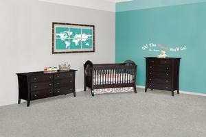 AMISH NURSERY SET MANHATTAN STYLE STD WOOD