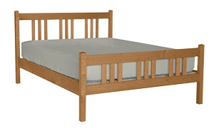 PACIFIC RIM BED PLATFORM ARTS CRAFT CHERRY TWIN