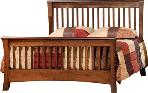 JR WOOD CARLISLE SLAT PLATFORM BED