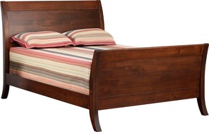 JR WOOD MANHATTAN PANEL PLATFORM BED