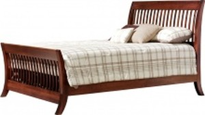 JR WOOD MANHATTAN SLAT BED PLATFORM TWIN FULL