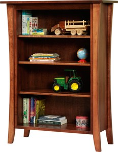 JR WOOD MANHATTAN STYLE BOOKCASE