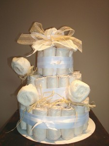 Eco Friiendly Diaper Cake