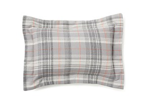 COYUCHI ORGANIC COTTON FLANNEL PLAID SHAM Clearance Sale