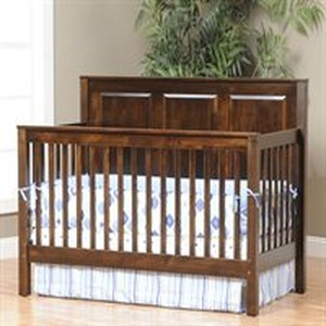 JR WOOD CRIB ECONOMY PANEL STYLE NON TOIXIC USA