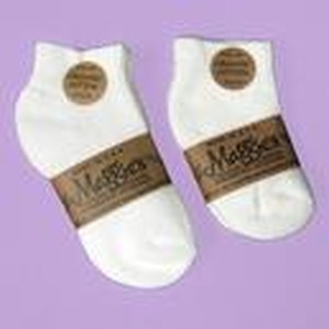 MAGGIES WHTIE 2 PK CREW SOCKS Organic Cotton