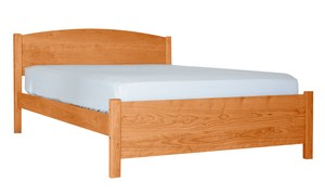 PACIFIC RIM PLATFORM MODERN BED CHERRY TWIN