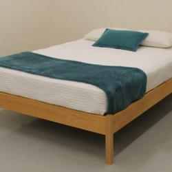 PACIFIC RIM PLATFORM ROGUE STYLE BED FRAME MAPLE FULL QUEEN