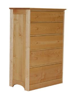 PACIFIC RIM DRESSER 5 DRAWER MAPLE WOOD