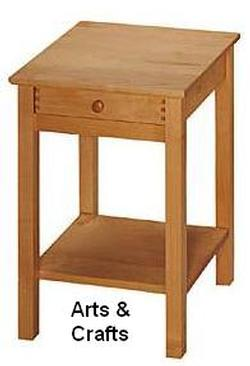 PACIFIC RIM NIGHTSTAND MAPLE WOOD ARTS CRAFTS
