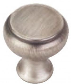 JR WOODWORKING HARDWARE SATIN NICKEL ROUND KNOB HAMPTON