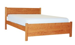 PACIFIC RIM PLATFORM SILHOUETTE BED CHERRY FULL QN