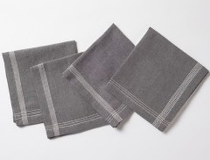 CHARCOAL CHAMBRAY ORGANIC NAPKINS