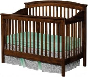 Cribs Non Toxic Cribs Amish Change Unit Solid Wood