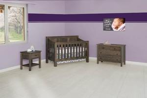 AMISH NURSERY SET SOLID WOOD MISSION