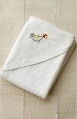 COYUCHI GEORGE COLLECTION HOODED BABY TOWEL Organic Cotton French Terry