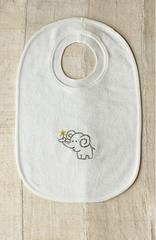 COYUCHI GEORGE COLLECTION JUNGLE ELEPHANT BABY BIB Organic Cotton ONLY 1 AVAILABLE