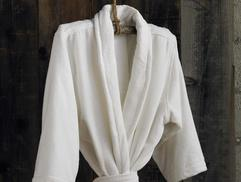 FRENCH TERRY VELOUR ORGANIC MENS UNISEX SPA ROBE Organic Robe