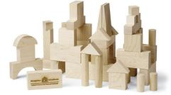 JUNIOR BUILDING BLOCKS 41 Piece, SIMPLE NATURAL UNFINISHED WOOD 68.95