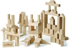 ADVANCED BUILDING BLOCK SET 78 Piece, SIMPLE NATURAL UNFINISHED WOOD 122.95