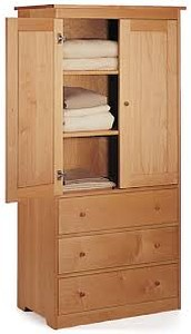 WARDROBE ARMOIR PACIFIC RIM US  SOLID MAPLE
