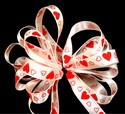 Satin Hearts White