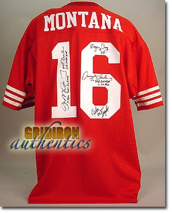 newest 53656 57022 Joe Montana - 49ers Authentic Team Signed Joe Montana Game ...