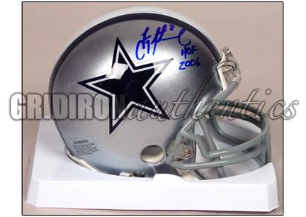 newest collection e7ad4 034d1 Troy Aikman - Troy Aikman Autographed Dallas Cowboys Mini ...