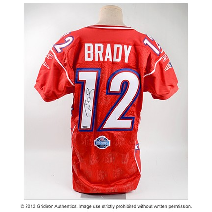 tom brady autographed super bowl jersey