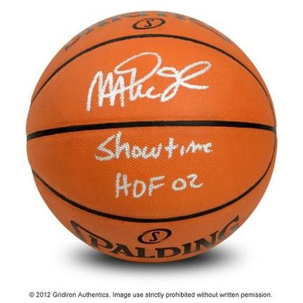 los angeles c3196 cf8c7 Magic Johnson - Magic Johnson Autographed Official NBA ...