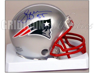 pretty nice a5b29 d0d62 Junior Seau - Junior Seau Autographed New England Patriots ...
