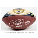 Deion Branch New England Patriots Autographed Super Bowl XXXIX Medallion Football w/ SB MVP insc