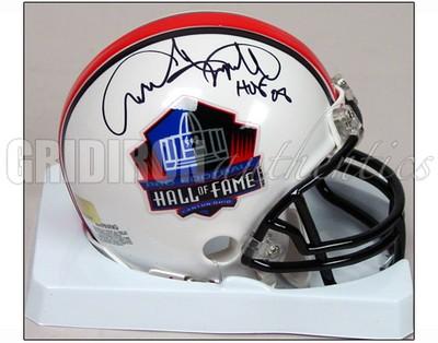 Andre Tippett Andre Tippett Auto Hall Of Fame Logo Mini Helmet