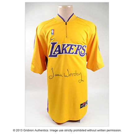 new product 0c220 c4a4a James Worthy - James Worthy Autographed Los Angeles Lakers ...
